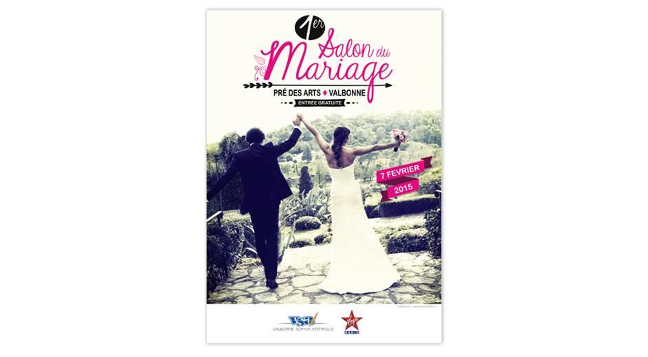 affiche salon du mariage de valbonne